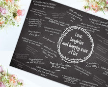 Load image into Gallery viewer, Wedding  Signing Board, Love Laughter & Happily Ever After