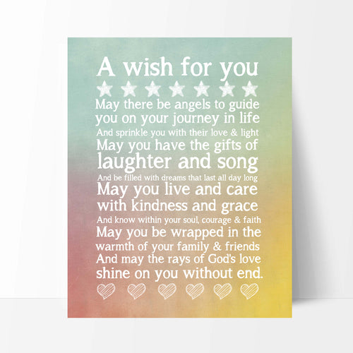 A Wish For You Rainbow Print