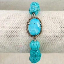 Load image into Gallery viewer, Turquoise And Diamond Bracelet