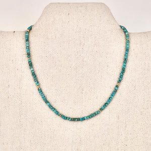 Delicate Turquoise And Gold Necklace
