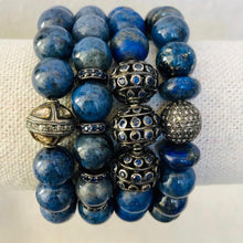 Load image into Gallery viewer, Blue Lapis Bracelet With Sapphire Beads