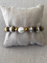 Load image into Gallery viewer, Pearl Nepali Brass Bracelet