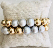 Load image into Gallery viewer, Gold Filled And Pearl Bracelet Stack