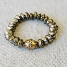 Load image into Gallery viewer, Vintage African Silver And Diamond Bracelet