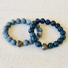 Load image into Gallery viewer, Blue Coral And Diamond Bracelet