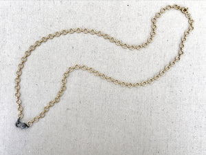 Circular Brass Chain With Pave Diamond Lobster