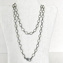 Load image into Gallery viewer, Clear Quartz Linked Necklace With Pave Diamond Lobster