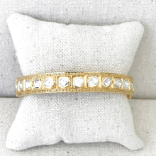 Load image into Gallery viewer, Gold Vermeil And Rose Cut Diamond Bangle