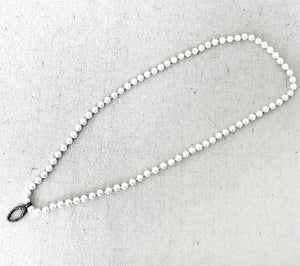 Pearl Necklace With Pave Diamond Lobster