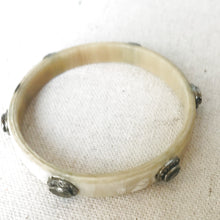 Load image into Gallery viewer, Horn And Diamond Bangle With Moonstone