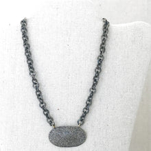 Load image into Gallery viewer, Sterling Silver Chain With Diamond Pendant