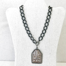 Load image into Gallery viewer, Sterling Curb Chain With Pave Diamond Lobster