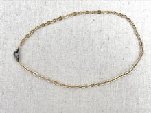 Load image into Gallery viewer, Gold Filled Oval Chain With Pave Diamond Lobster