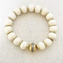 Load image into Gallery viewer, Bone, Gold And Diamond Bracelet