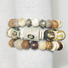Load image into Gallery viewer, Bone, Shell And Antler Diamond Bracelet