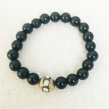 Load image into Gallery viewer, Black Agate And Diamond Bracelet
