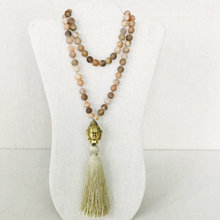 Load image into Gallery viewer, Druzy Buddha Necklace With Tassel