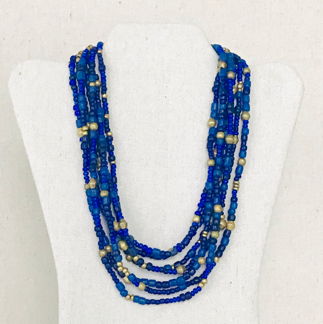 Lapis Multi-Strand Necklace