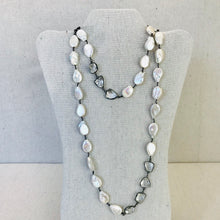 Load image into Gallery viewer, Pearl And Crystal Wire Wrapped Necklace