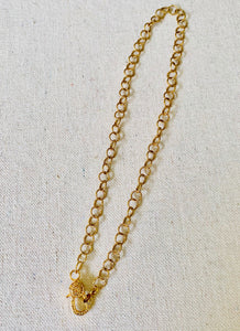 Gold Filled Chain With Pave Diamond Lobster