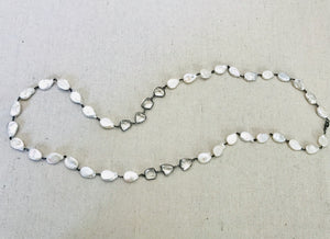 Pearl And Crystal Wire Wrapped Necklace