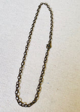 Load image into Gallery viewer, Texturized Sterling Silver Chain With Pave Diamond Lobster