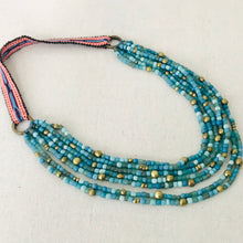 Load image into Gallery viewer, Turquoise Blue Multi-Stranded Necklace