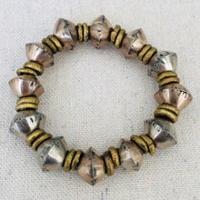 Load image into Gallery viewer, Vintage African Silver And Brass Bracelet