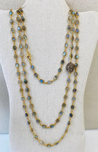 Load image into Gallery viewer, Labradorite Linked Necklace With Diamond Bead