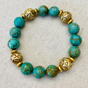 Turquoise And Gold Bracelet