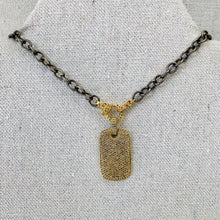 Load image into Gallery viewer, Sterling Silver Chain With Pave Diamond Lobster