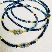 Load image into Gallery viewer, Delicate Lapis, Sapphire, Labradorite, And Iolite Necklace