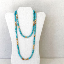 Load image into Gallery viewer, Turquoise And Brass Necklace