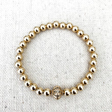 Load image into Gallery viewer, Gold Filled Bracelet With Diamond Bead