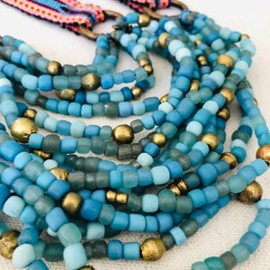 Turquoise Blue Multi-Stranded Necklace