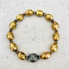 Load image into Gallery viewer, African Brass And Diamond Bracelet