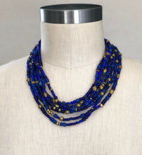 Load image into Gallery viewer, Lapis Multi-Strand Necklace