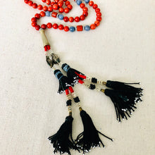 Load image into Gallery viewer, Coral Tribal Tassel