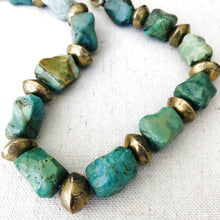 Load image into Gallery viewer, Turquoise And Brass Necklace (Large)
