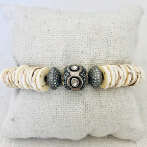 Shell And Diamond Bracelet