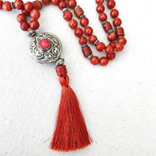 Load image into Gallery viewer, Coral Necklace With Tassel