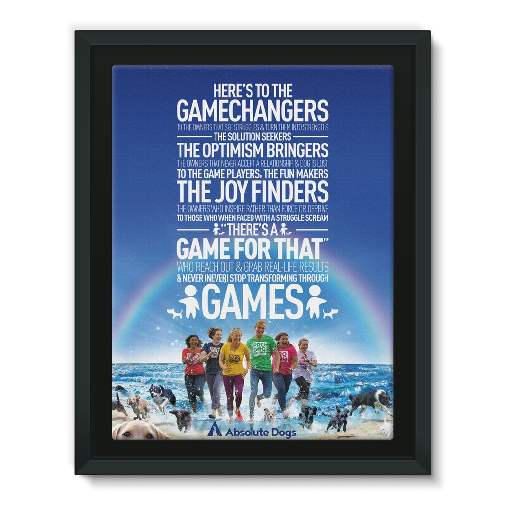 GameChanger - Life's A Beach Framed Canvas