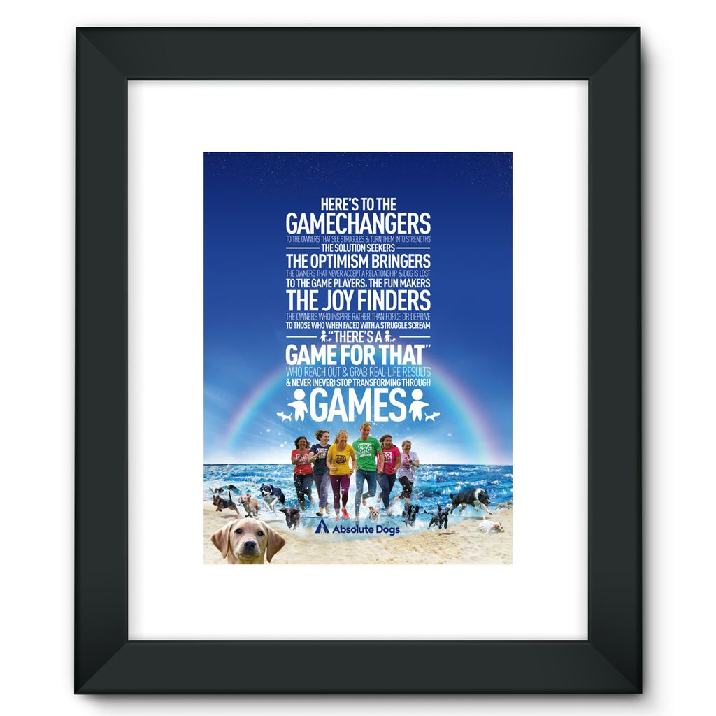 GameChanger - Life's A Beach Framed Fine Art Print