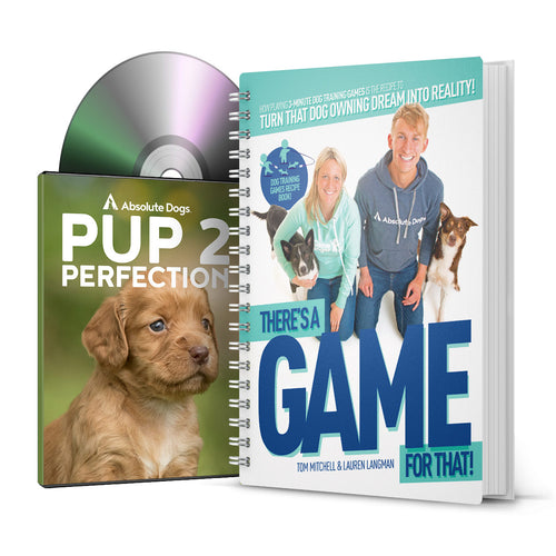 Pup 2 Perfection DVD and There's a game for that Recipe Book Bundle