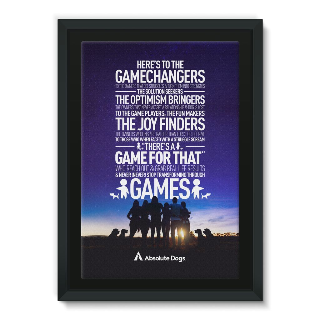 GameChanger - Night Life Framed Canvas
