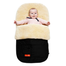 Load image into Gallery viewer, Snuggle Pod Sheepskin Footmuff in Buttermilk