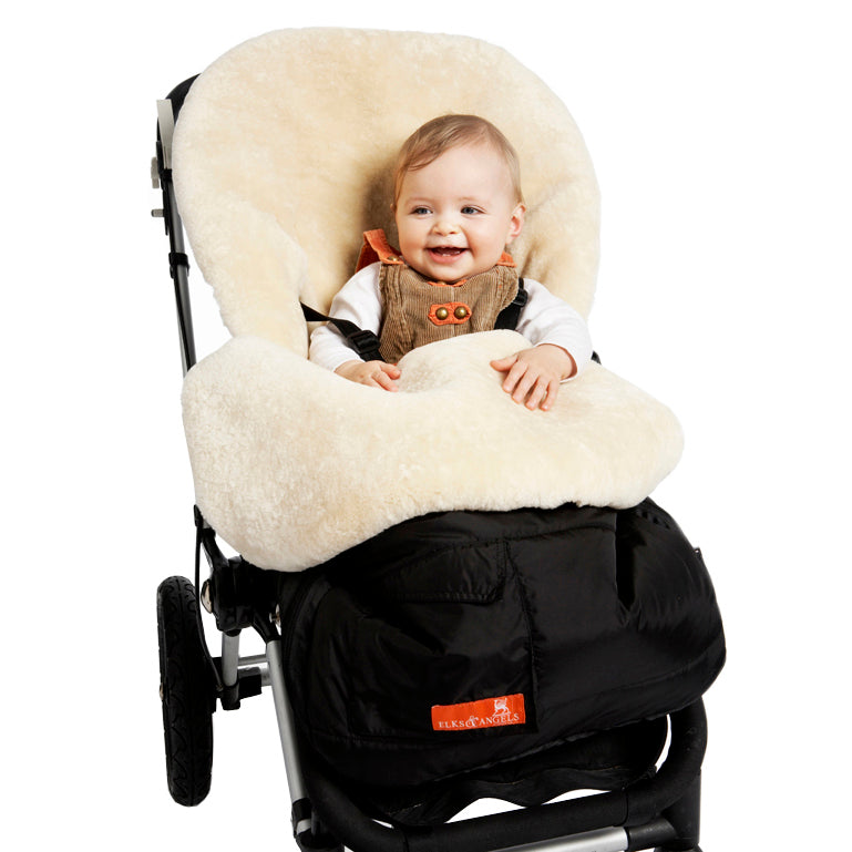 Snuggle Pod Sheepskin Footmuff in Buttermilk