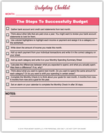 Simple Budgeting Worksheets - Easy Steps To Start A Budget