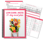 Low-Carb/Keto 30-Day Meal Plans with Shopping Lists