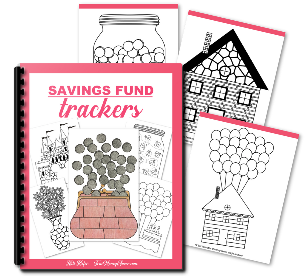 Savings Fund Trackers - 20 Visual Ways To Track Your Savings